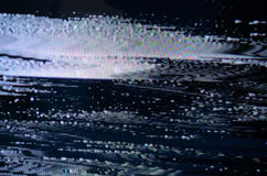 Schermo di impulso errato TV Fotografie Stock Libere da Diritti