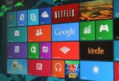 Schermo di inizio di Windows 8 Fotografie Stock Libere da Diritti