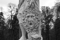 Schermo di marmo con la medusa di Gorgon Immagine Stock Libera da Diritti