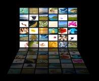 Schermo di multimedia Immagini Stock