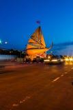 Schermo di notte in Chonburi Immagine Stock