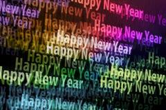 Schermo di nuovo anno felice Fotografia Stock