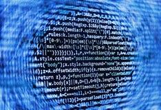 Schermo di programmazione di codice sorgente di codifica Fotografie Stock