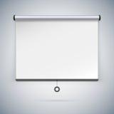 Schermo di proiezione per montrare i vostri progetti Immagini Stock