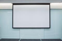Schermo di proiezione vuoto, bordo di presentazione Fotografia Stock