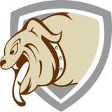 Schermo di riserva del cacciatore del cane del toro di logo Fotografie Stock Libere da Diritti