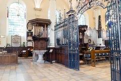 Schermo di rood del ferro e di Derby Cathedral Pulpit fotografia stock