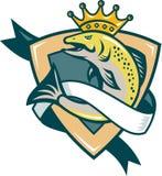 Schermo di salto dei pesci del re salmone illustrazione di stock