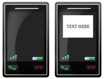 Schermo di tocco in bianco del telefono mobile Immagini Stock Libere da Diritti