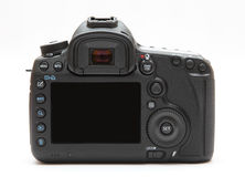 Schermo di visualizzazione posteriore della macchina fotografica digitale fotografia stock libera da diritti
