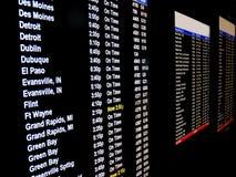 Schermo di volo di partenza Fotografia Stock