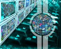 Schermo e sfera Immagine Stock