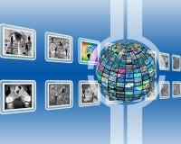 Schermo e sfera Immagini Stock