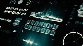 Schermo futuristico dell'interfaccia digitale archivi video