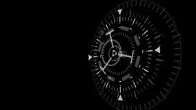 Schermo futuristico di dati del computer di interfaccia di tecnologia illustrazione di stock