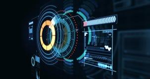Schermo genetico di ingegneria generato Digital e modelli circolari illustrazione vettoriale