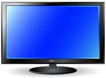 Schermo isolato del plasma della TV Immagini Stock