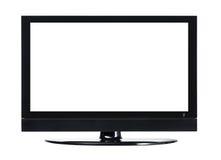 Schermo LCD TV con fondo bianco fotografia stock libera da diritti