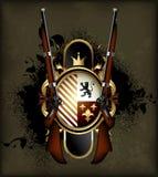 Schermo ornamentale con le armi Immagini Stock Libere da Diritti
