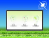 Schermo piano dell'affissione a cristalli liquidi della TV (06) Fotografia Stock