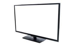 Schermo piano moderno TV con lo schermo vuoto in bianco isolato Immagini Stock Libere da Diritti