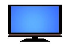 Schermo piano TV Immagini Stock Libere da Diritti