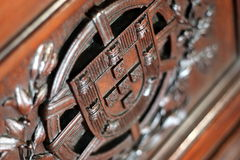 Schermo portoghese di legno fotografie stock