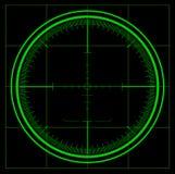 Schermo radar Fotografie Stock