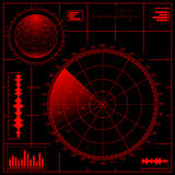 Schermo radar illustrazione di stock
