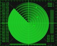 Schermo radar Fotografia Stock Libera da Diritti