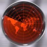 Schermo radar del mondo Immagini Stock