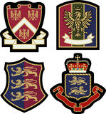 Schermo reale del distintivo dell'emblema Fotografia Stock