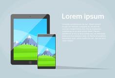 Schermo rispondente di App di progettazione dello Smart Phone della compressa illustrazione di stock