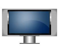 Schermo TV del plasma con il basamento Immagine Stock Libera da Diritti