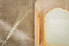 Scherp brood op een plaat Stock Foto