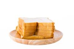 Scherp brood op een plaat Stock Afbeeldingen