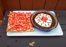 Scherp dessert en Pastei Stock Foto