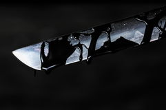 Scherp Katana Sword Blade royalty-vrije stock fotografie