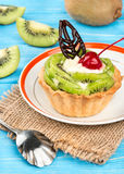 Scherp met kiwi Royalty-vrije Stock Fotografie