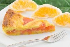 Scherp met oranje marmelade stock fotografie