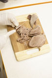 Scherp rundvleesvlees Stock Foto