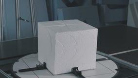 Scherp schuimplastic Automatisch knipsel van uitgebreid polystyreen stock videobeelden