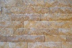 Scherpe beige marmeren opgestelde muur, De geologie, graniet royalty-vrije stock foto