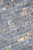 Scherpe blauwe marmeren opgestelde muur, stock foto's