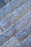 Scherpe blauwe marmeren opgestelde muur, stock fotografie