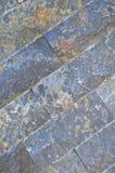 Scherpe blauwe marmeren opgestelde muur, stock foto