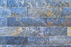 Scherpe blauwe marmeren opgestelde muur, detail royalty-vrije stock foto