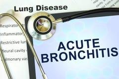 Scherpe bronchitis royalty-vrije stock afbeelding