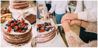 Scherpe cake Royalty-vrije Stock Afbeeldingen