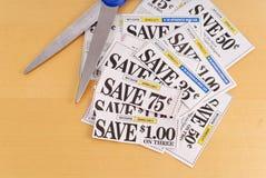 Scherpe Coupons Stock Foto